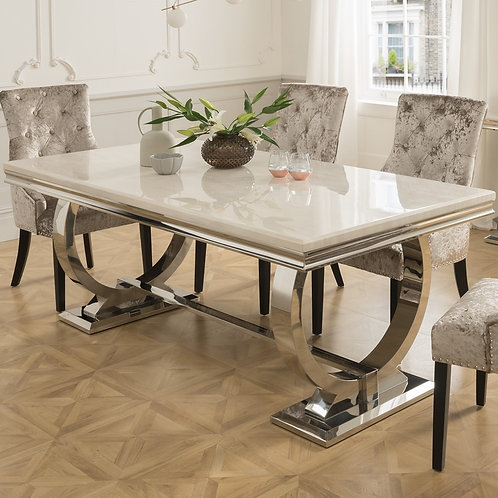 Arianna Marble Stainless Steel Table