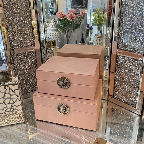 Pink Moc Croc Designer Inspired Storage Boxes