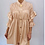 Thumbnail: Ruffle Sleeve Shirt Dress /Top Beige