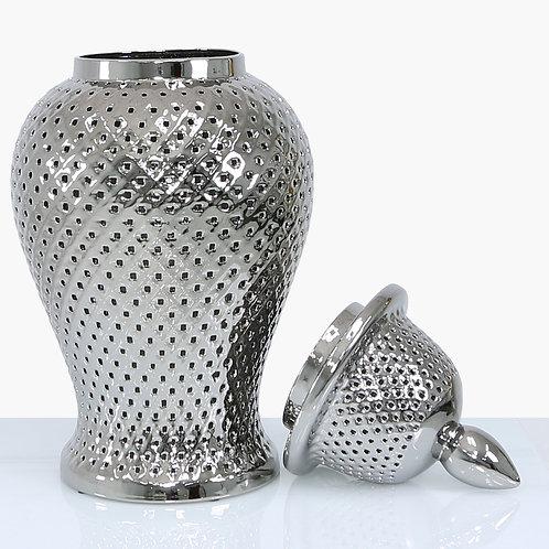 61 cm Silver ceramic Ginger Jar
