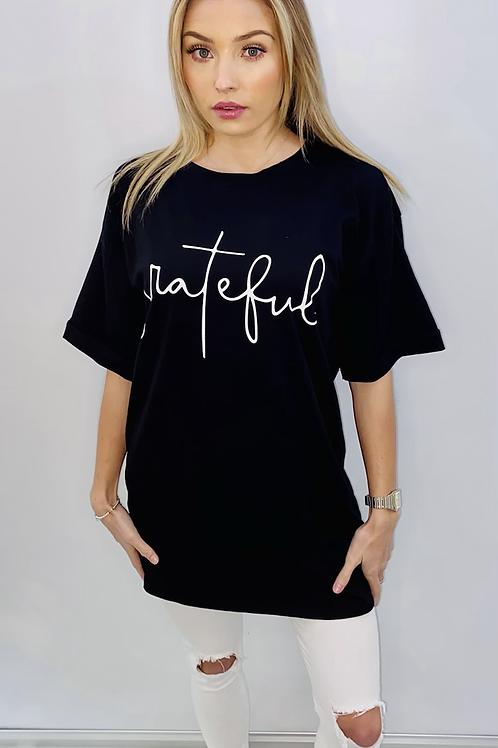 Long line Black T-shirt