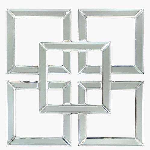 40 cm Geometric Wall Art Mirror V 2