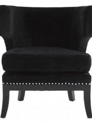 Black Velvet Townhouse Chair