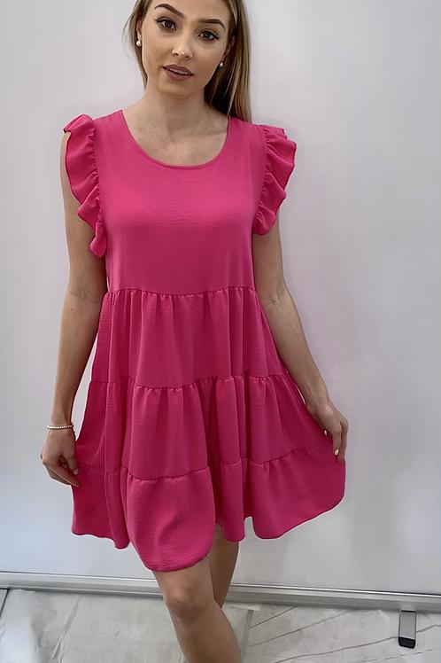 Cerise Smock Dress