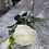 Thumbnail: Silk Single Head English Rose Cream Stem with bud