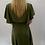 Thumbnail: Khaki Wrap Over Style Dress Midi