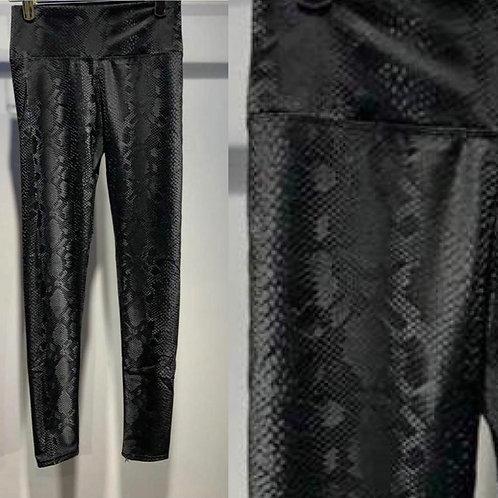 Moc croc Black Wet Look Leggings