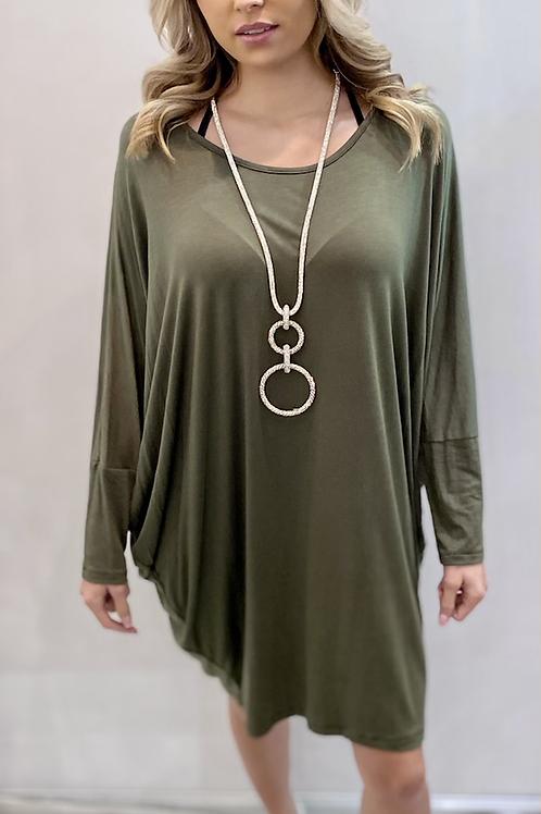 Khaki Two style dress / top
