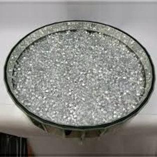 Crushed Glass Circular Tray 41.5 cm