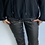 Thumbnail: Black Leather Look Magic Trouser with side detail