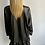Thumbnail: Wet look peplum hem dress black or tan