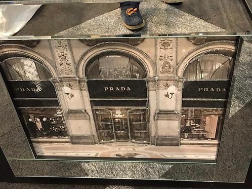 Prada Store Liquid Art with Mirrored Frame
