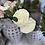 Thumbnail: Silk 2 Head English Rose Cream Stem