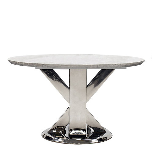 Tremmen Marble Round Dining Table - Grey 1300