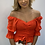 Thumbnail: Ruched Off the Shoulder Fitted Top - Various Colours
