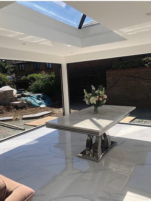 Ottavia Marble Stainless Steel Dining Table