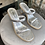 Thumbnail: Gold and Silver Strappy sandals