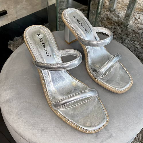 Gold and Silver Strappy sandals