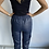 Thumbnail: Navy Leather Look Jogger Trousers with Pocket detail