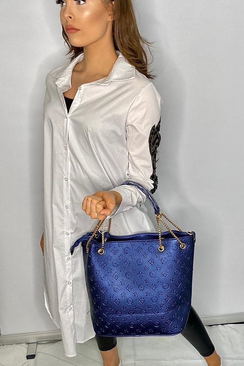 Bright Blue designer inspired bag
