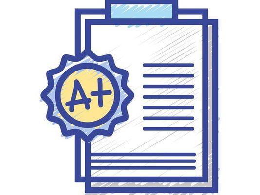 A+ Paper Clip Art