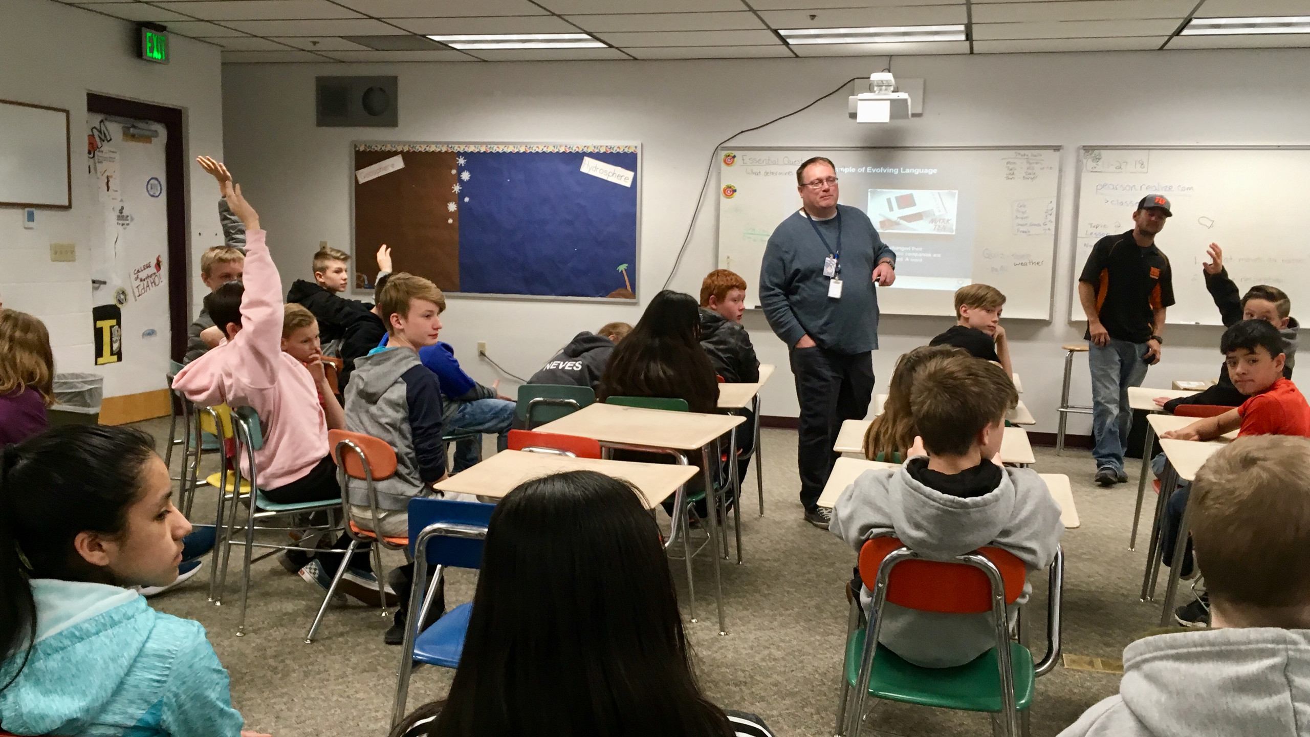 Cody Orchard, a Health Education Specialist from South Central Health District came to BMS to teach the students of the dangers of vaping.