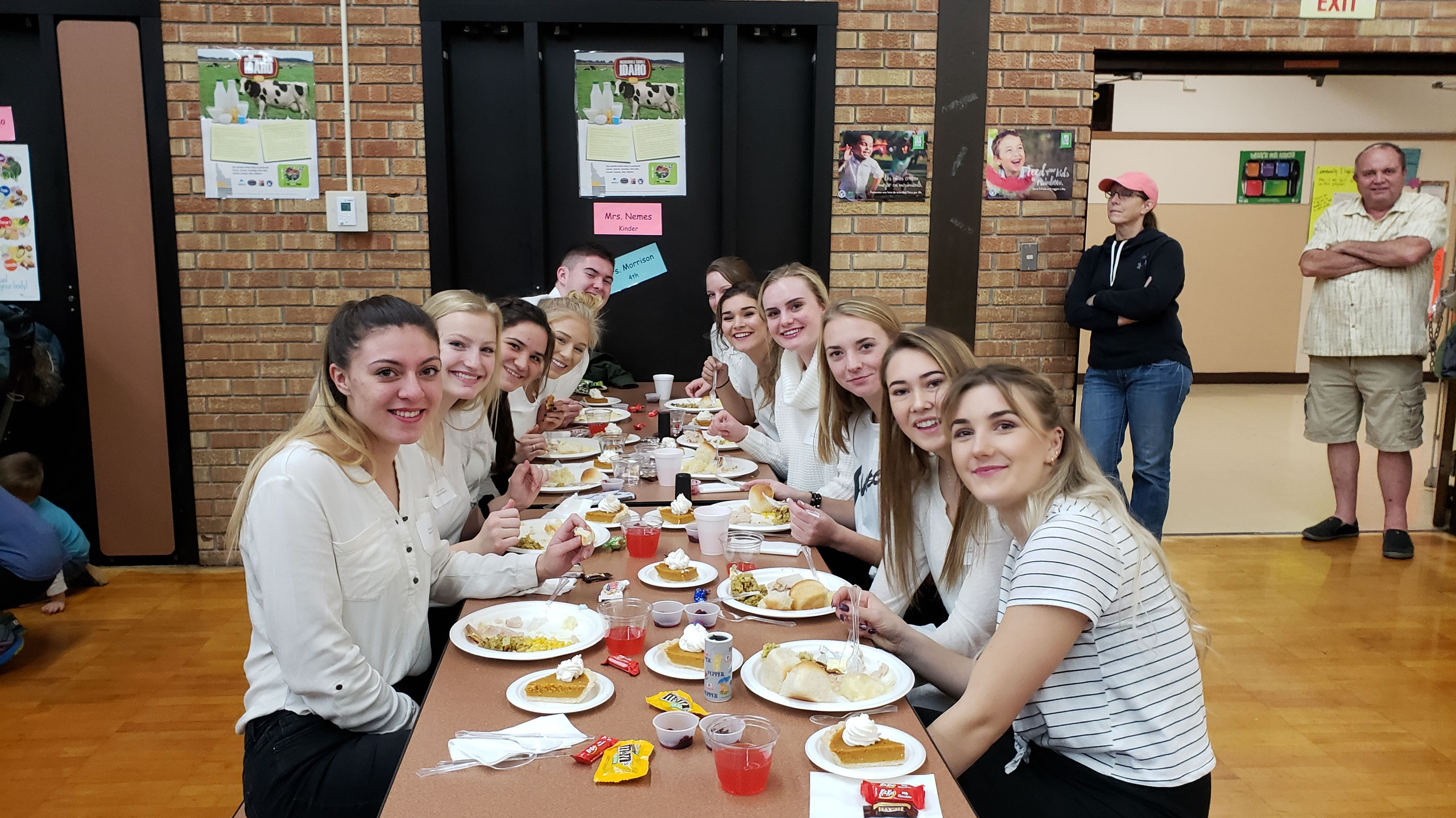 The BHS National Honors Society helps to serve at the Octogenarian Dinner every year.