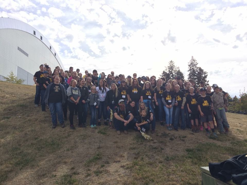 Buhl FFA students participated in AG Days at the University of Idaho. Showcased here with other participating students.