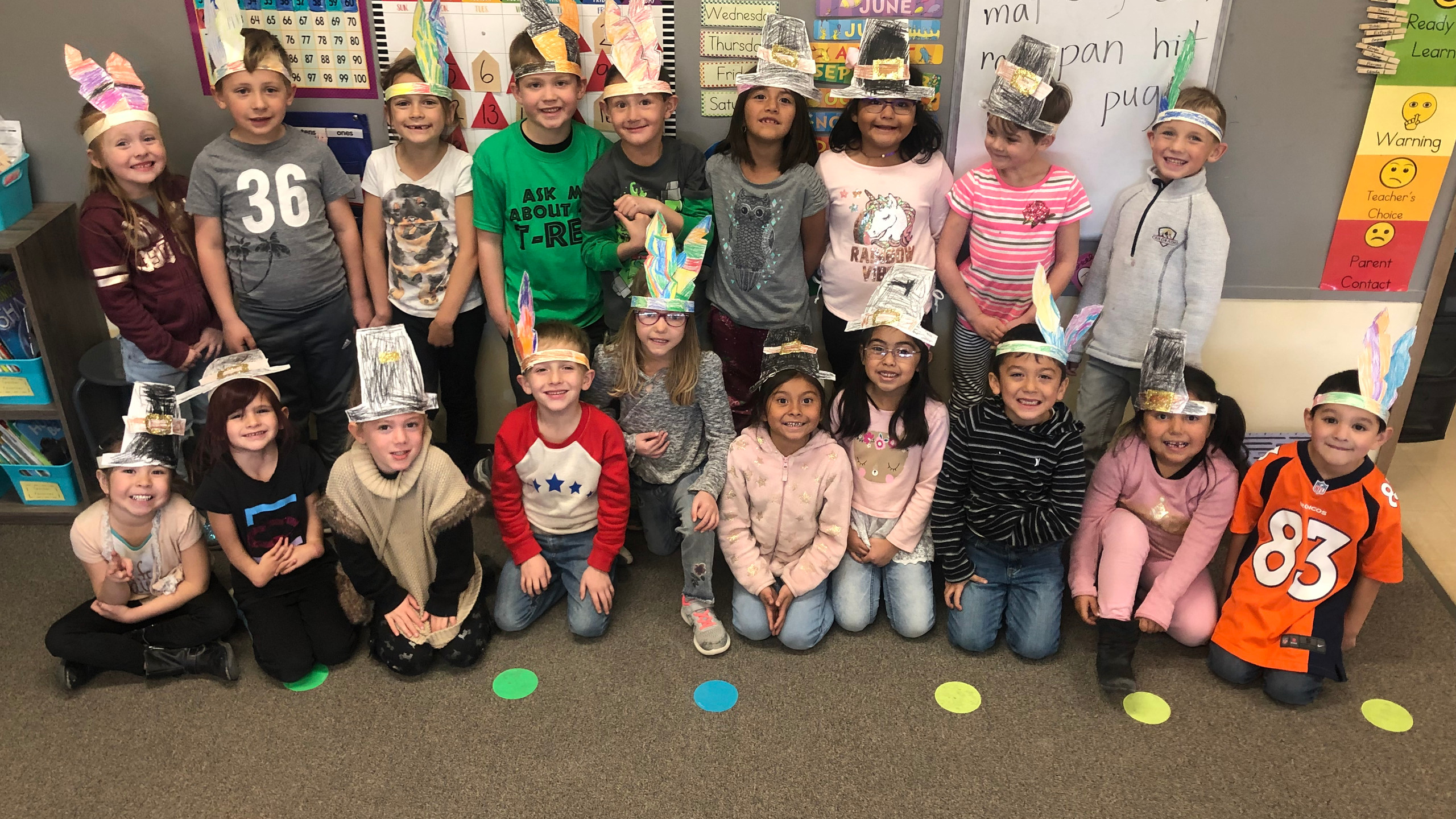 Learning about Thanksgiving in PES.