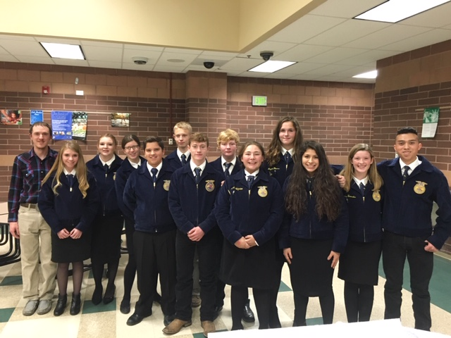 Here is a picture of all of the BHS FFA members with a Green Hand FFA Degree. Congrats!