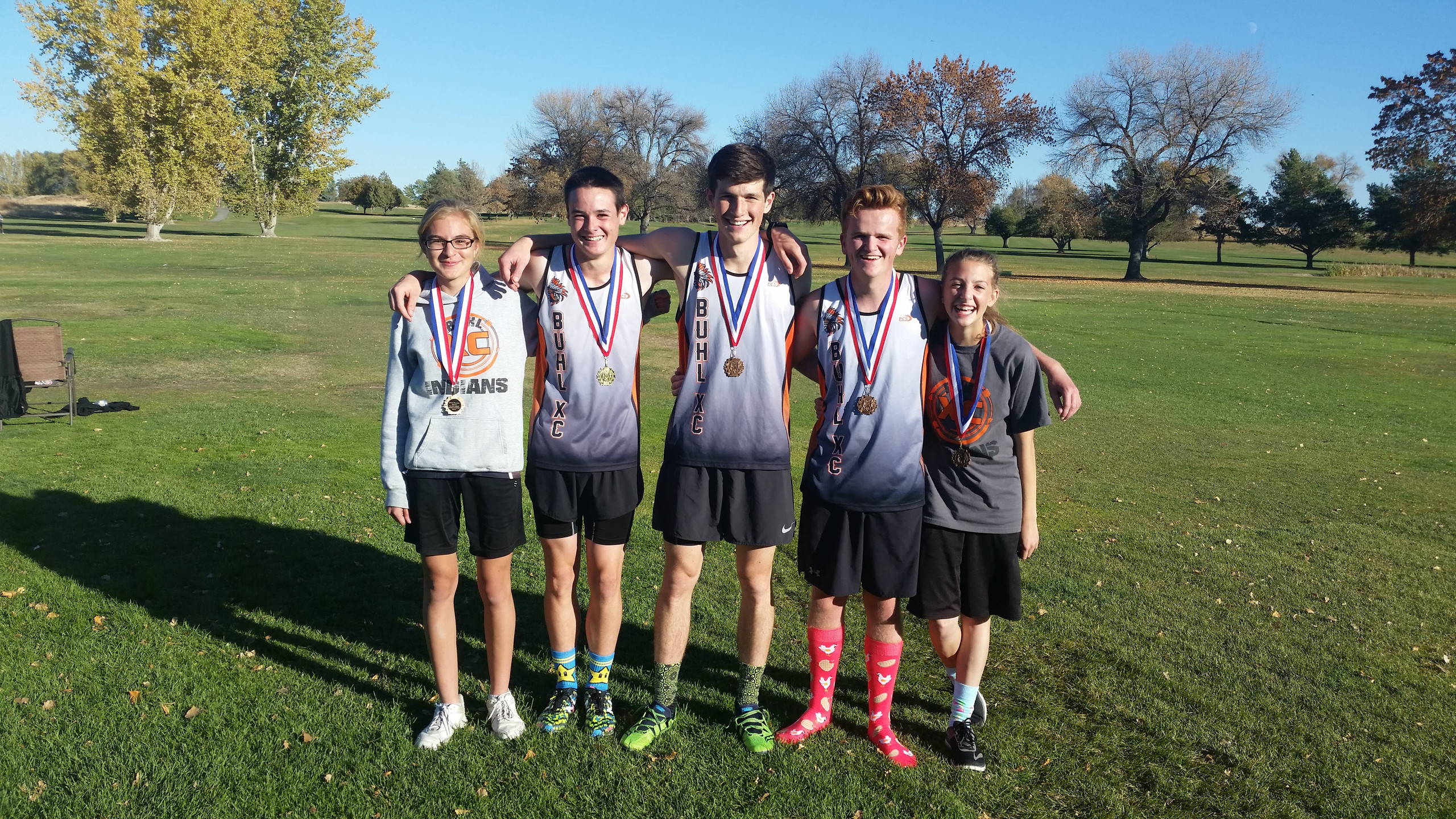 5 Cross Country student athletes from Buhl placed in the District Meet.