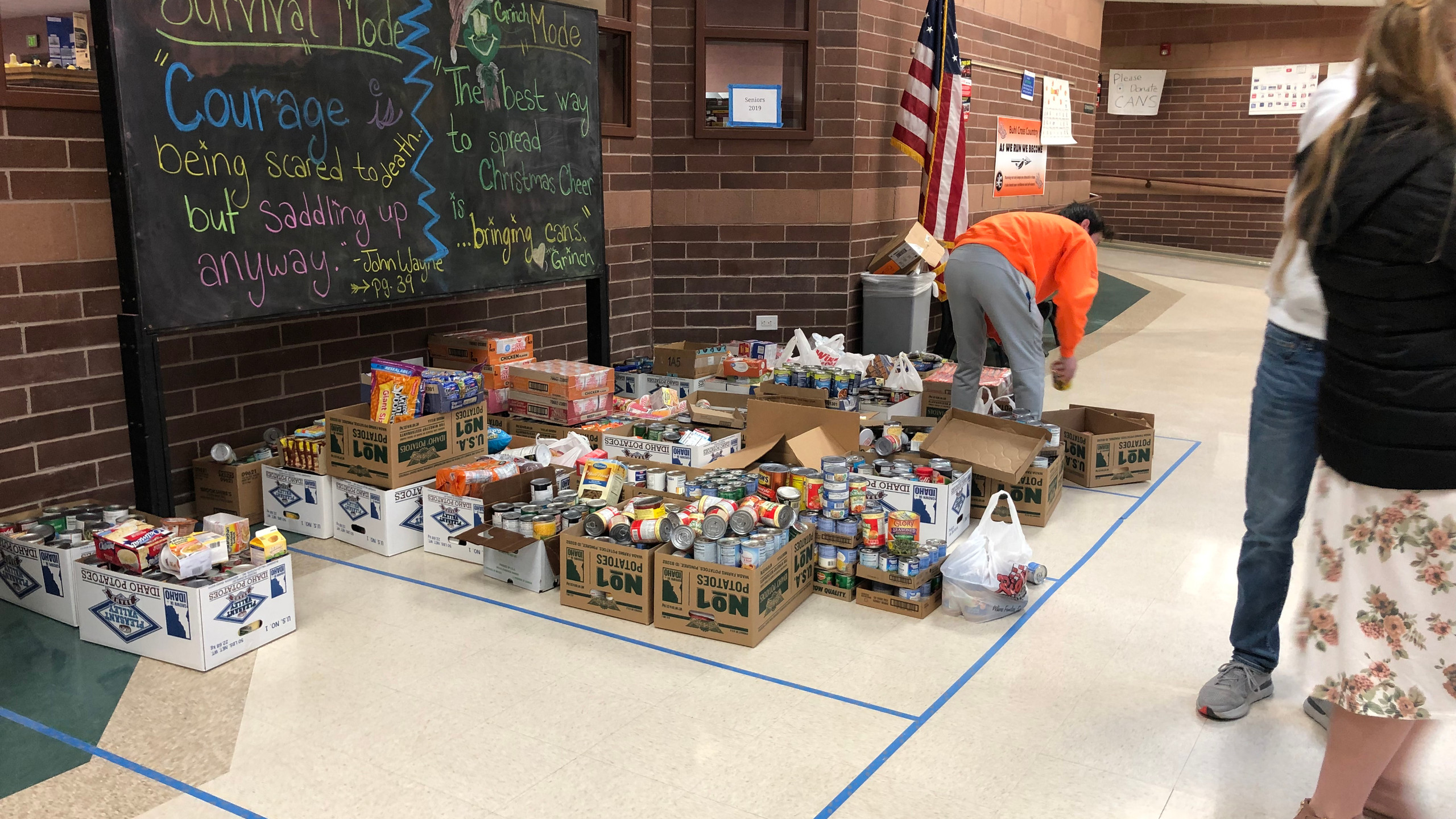 Students brought in about 3,000 separate items.