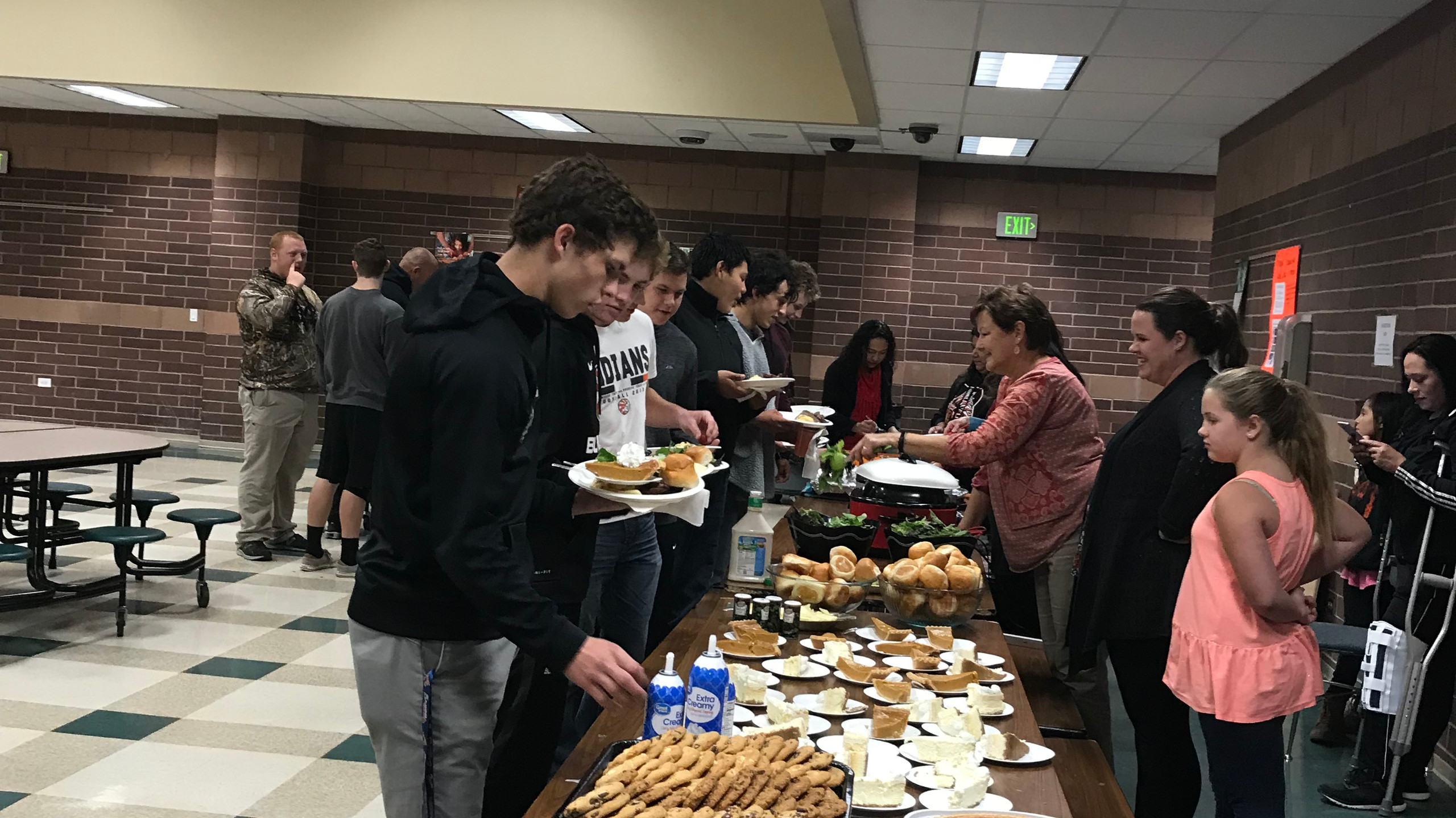 Thank you to all of those who prepared such a lovely meal for the Football  Team Senior Night gathering.