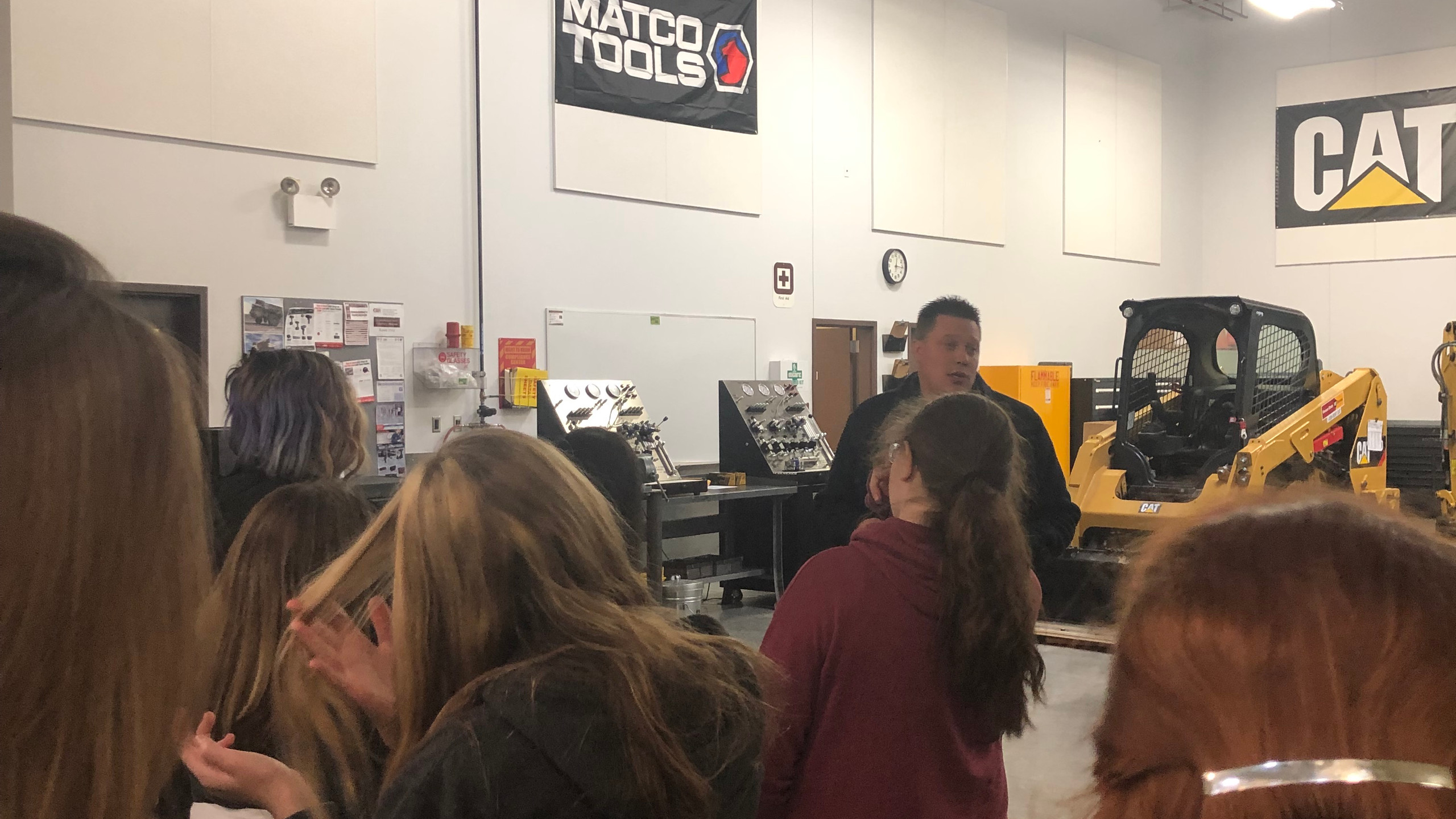 Students visit the CWI Campus Classes.