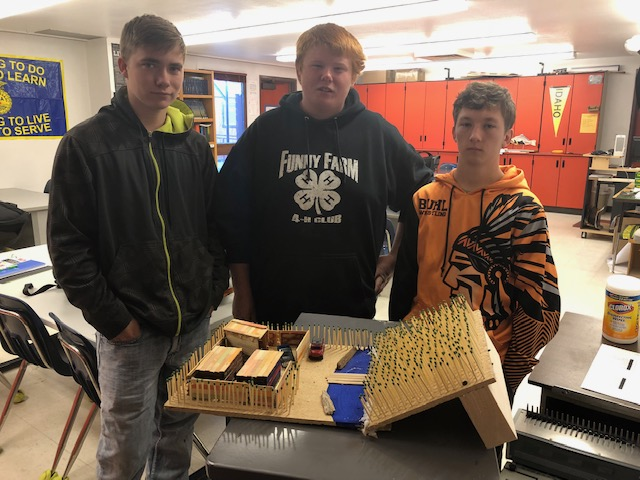 Fish and Wildlife Science Class finished models.