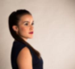 Natalia Labourdette Soprano Irene GarMtz Portrait blue dress