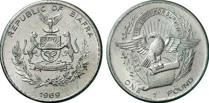 1 Pound 1969, Kursmünze, Silber 640/1000, 24,0 g, Ø 37,5 mm