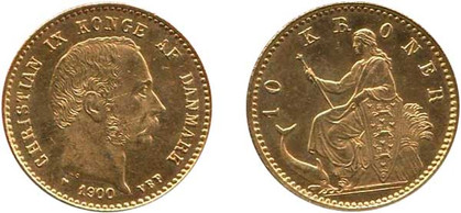 10 Kronen 1900, Kursmünze, Gold 900er, 4,48 g, Ø 18 mm