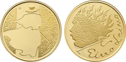 100 Euro 2016, 90. Todestag von Eino Leino, Gold 916,7er,5,65 g, Ø 22 mm