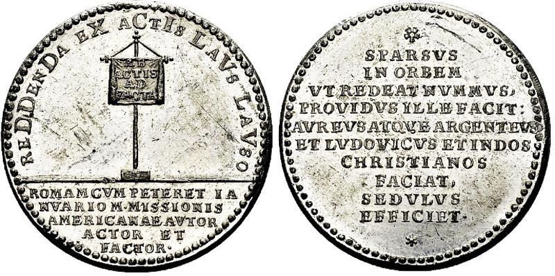 Zinnmedaille 1721