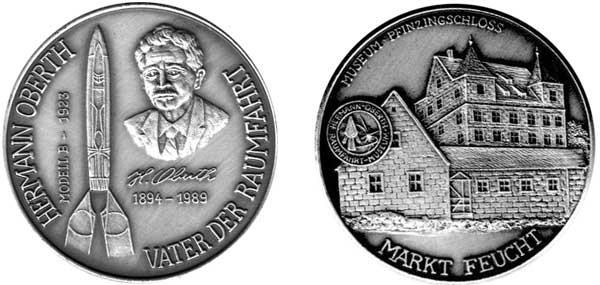 Oberth-Medaille, Ag 999 fein