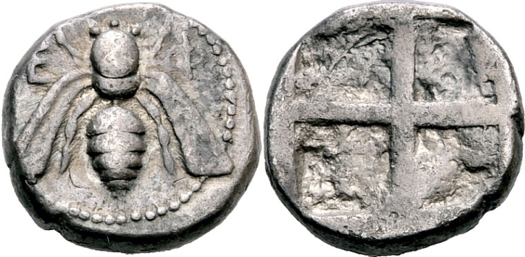 Abb. 2.4_ Didrachmon (um 450–420 v.u.Z.), 7,40 g, Ø (Höhe Vs.) 17,5 mm [Dr. Busso Peus Nachf., Auktion 398 (28.–30. April 2009),  Nr