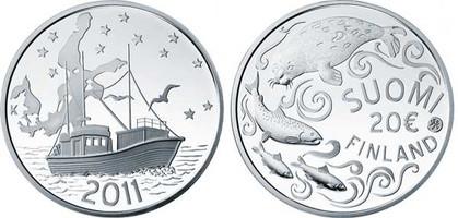 20 Euro 2011, Schutz der Ostsee, Silber 925er, 33,62 g, Ø 38,61 mm