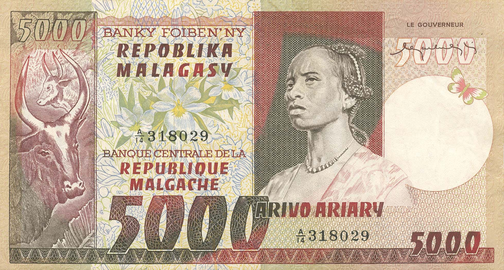 MAD-0066a-5000-Francs=1000 Ariary-ND (19
