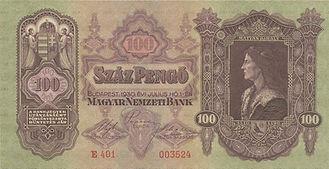 100 Pengö vom 1.7.1930, Vorderseite