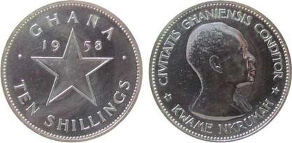 10 Shillings 1958, Kursmünze, Silber 925er, 28,28 g, Ø 38,74 mm