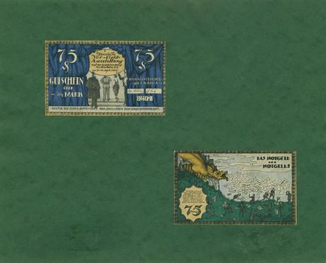 Gutschein zur Notgeldausstellung 1921
