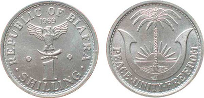 1 Shilling 1969, Kursmünze, Aluminium, 1,8 g, Ø 23,5 mm