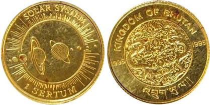 1 Sertum 1995, Meilensteine der Raumfahrt/Sonnensystem, Gold 999/1000, 1,24 g, Ø 13,92 mm, 25 000 Exemplare