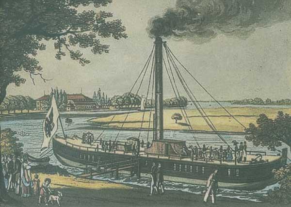 """Die """"Prinzessin Charlotte von Preußen"""", kolorierte Radierung nach Friedrich August Calau von 1818"""